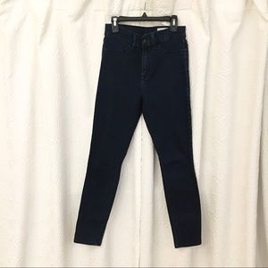Pistola high waisted dark wash blue jeans